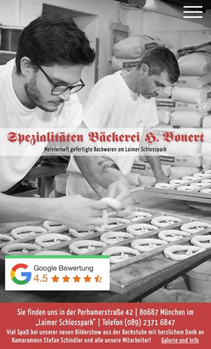 Spezialitäten Bäckerei Bonert