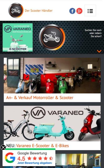Der Scooterhändler VARANEO Vertragshändler